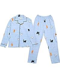 49d34c4c97 Mmllse Pyjamas Pyjama Sets Katze Frisch Dressing Schlaf Print Frauen  Nachtwäsche Nachthemd Homewear