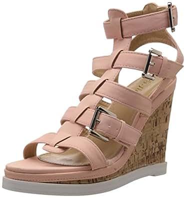 G Studio Women's Briley Peach Fashion Sandals - 5 UK (A2051-3W)