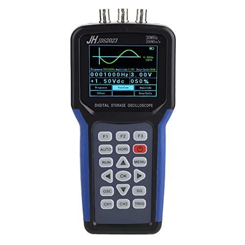 Eboxer Multímetro de Osciloscopio Portátil, Multímetro de Osciloscopio Digital Profesional con Función de Activación de Borde Máximo de 1 Canal 200MSa / s
