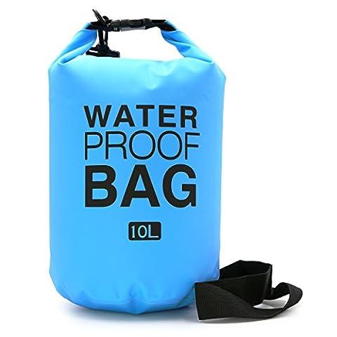 I-dragon 5L/10L/20L en PVC extérieur étanche Dry Bag Sac Sac de rangement pour voyage Rafting Bateau Kayak canoë Camping Snowboard, bleu clair