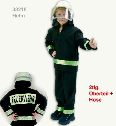 Feuerwehrmann schwarz Feuerwehr Anzug 2tlg Kinder Gr.: 128 (Polizei-mädchen-kostüm)