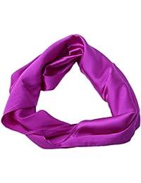 Women Satin Seide Square Scarf Damen Kopftuch Schal Wrap Head Schals Schals