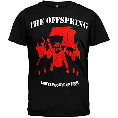 Old Glory Mens The Offspring - SIFU 09 Tour Soft T-Shirt - X-Large Black