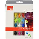 Vacu Vin - marcadores de cristal
