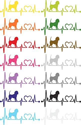 Herzlinien Aufkleber Beagle -