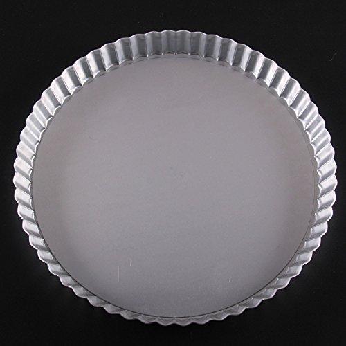 JIAJU 11-Zoll-Pie pan Chrysantheme Anode Doppelboden, Pizzablech, Kuchenform