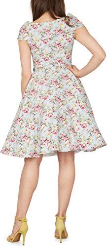 Black Butterfly 'Cynthia' Vintage Amity Kleid im 50er-Jahre-Stil (Himmelblau, EUR 52 – 5XL) - 3