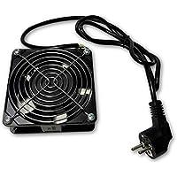 Welly Enjoy IT WY40040 - Ventilador de 220V para Bastidor (Cable de conexión 2 m, Enchufe Schuko) Color Negro