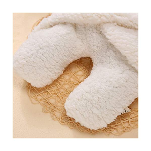 Yinuoday – Manta con capucha para bebé recién nacido, saco de dormir de forro polar para bebés y niñas blanco blanco