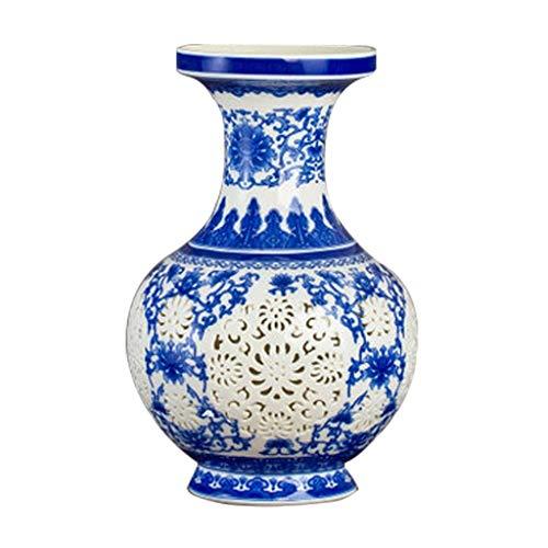 Unbekannt Keramik Vase Dekoration Wohnzimmer Blumenschmuck Hohl Porzellan Modernen Chinesischen Heimtextilien (Basis separat Kaufen) Hauptdekoration