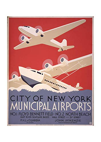 Municipal Airport (Spiffing Prints City of New York Municipal Airports - Large - Archival Matte - Framed)