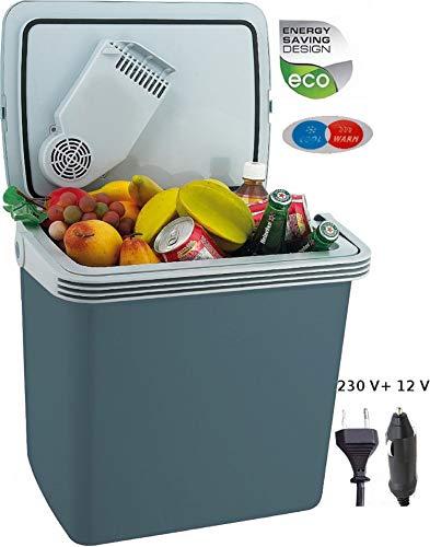 24 Liter 2in1 Kühlbox | Kühltasche | Thermobox | Isoliertasche | Warmhaltebox | Auto | Camping | Outdoor Kühlbox und Warmhaltebox |Tragegriff | 12 Volt und 230 Volt