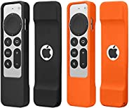 SunStory [2 Pack]2021 Apple TV 4K Siri Remote Case Cover,Suitable for Apple TV 4K/HD Siri Remote Controller (2