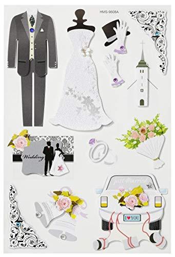 3D Sticker Hochzeit II