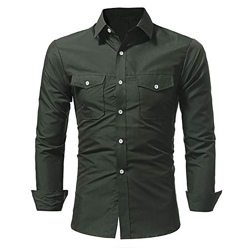 ♫♫ Amlaiworld Herren Mode bunt Hemd eng Freizeit Elegant Baumwoll Langarmshirts Coole Mode Revers Bluse Slim fit Tops Lange Ärmel Büro Oberteile