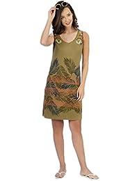 Señoretta Vestido sin Mangas de Punto 181189 - Verde, ...