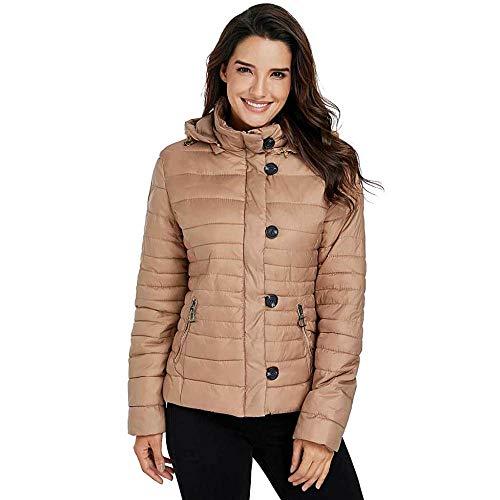 Plus Gepolsterte Kleiderbügel (KAIDILA Khaki Core Kapuzen Jacke Frauen Winter Verdickung abgeschnitten Baumwolle gepolstert Jacke locker nach unten Jacke Coa T mit Kapuze)