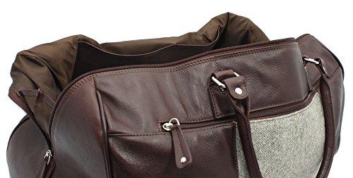 Pelle Mala Leather Collection ABERTWEED & Tweed Viaggi Borsone 765_40 a spina di pesce A spina di pesce