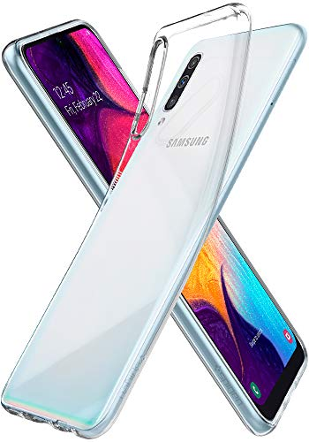 Spigen 611CS26200 Liquid Crystal Kompatibel mit Samsung Galaxy A50 Hülle Transparent TPU Silikon Handyhülle Samsung A50/A30S/A50S Durchsichtige Schutzhülle Case Crystal Clear