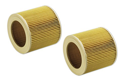 2 Patronenfilter Lamellenfilter passend für Kärcher A 2204 2254 2101 2201 6.414-552.0 64145520 (Luftreiniger-patrone)