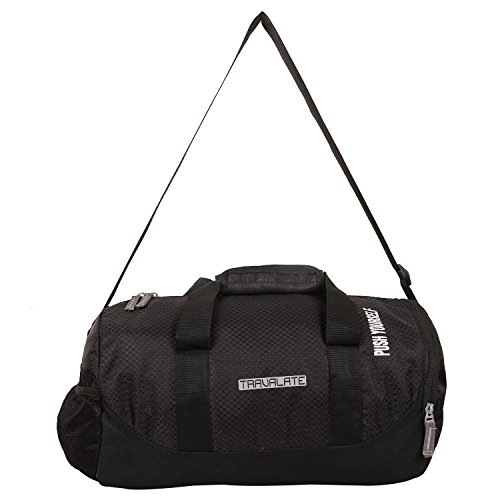 e0e9f740329d TRAVALATE Polyester Water Resistant Gym Duffle Bag (Black) with ...