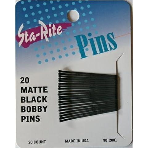 Sta-Rite Matte Black Bobby Pins 2 20 ct by Sta-Rite - Sta Rite Pins