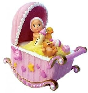 Musicbox world le monde de la boîte à musique - bébés dans un berceau - le berceau balance sur la mélodie «berceuse de mozart»