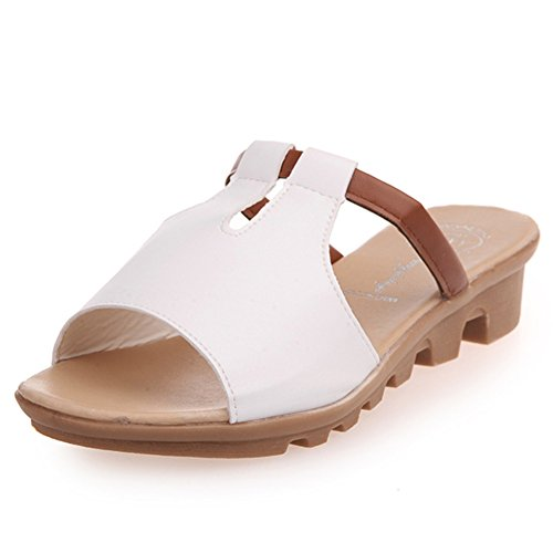 estate moda Lady di pantofole/Fondo piatto antiscivolo studente scarpe casual/wild women Sandals D