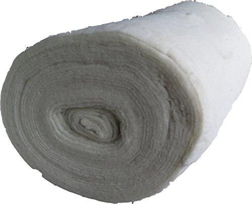 Woll Volumenvlies aus Schafschurwolle 150g/m², 1,5 m breit, 2,5 m lang, ca. 15 mm dick, 3,75 m², (EUR 6,63/m²), Patchworkvlies, Vlies, Meterware, waschbar, geeignet als Füllmaterial Schurwollvlies -