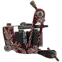 SODIAL(R) Mquina tatuaje Tattoo Machine Professional aluminio 10 bobinas