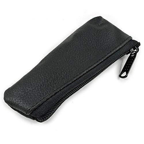 Executive Shaving Schwarz Leder Rasierhobel Reisetasche mit Reißverschluss -