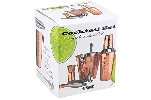 Apollo Cocktail-Set aus Edelstahl und Kupfer, Mehrfarbig, 5-teilig Apollo Cup