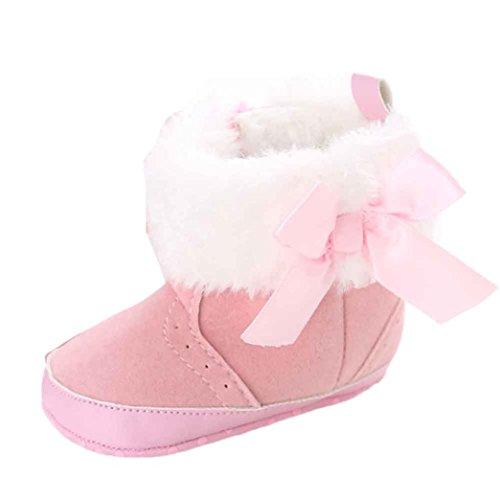 Für 0-18 Monate Baby,Amlaiworld Baby halten warme weiche Sohle Winterstiefel Rosa