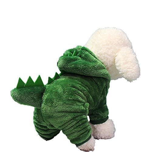 Oncpcare Hunde-Kostüm aus Flanell, für den Winter, XXL, Dinosaurier