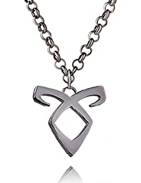 Ginie'sWishKart Necklace Jewelry Angel Power Mortal Instrument Clavicle Chain Necklace In Grey Color And Its Size...