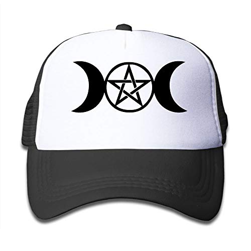 Voxpkrs Triple Moon Pentacle On Children\'s Trucker Hat, Youth Toddler Mesh Hats Baseball Cap Cool29297