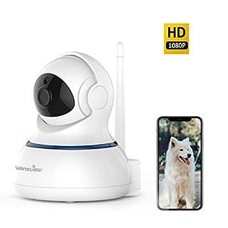 Wansview WLAN IP Kamera Überwachungskamera 1080P als Home/Baby Monitor mit Schwenk und Neige, Zwei-Wege Audio, Nachtsicht Funktion, Micro SD Kartenslot und deutsche App/Anleitung Weiß
