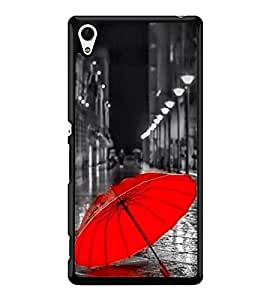 Red Umbrella 2D Hard Polycarbonate Designer Back Case Cover for Sony Xperia Z4