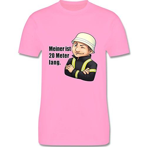 Feuerwehr - Feuerwehrmann - Meiner ist 20 Meter lang. - Herren Premium T-Shirt Rosa