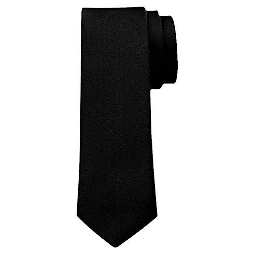 duenne krawatte OM3™ K-02 TRENDY SKINNY TIE/Modische schmale dünne Krawatte - SCHWARZ - Party Business Schlips Handmade Smoking Anzug Unisex