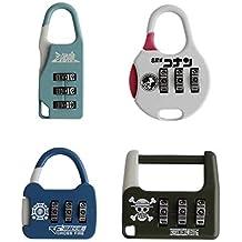 Tootpado Combination Lock 3 Digit Padlock - Pack of 4 (LNTq068)