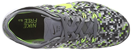NikeFree 5.0 Tr Fit 5 Print - Scarpe fitness Donna Grigio (Grau (Cool Grey/Black-Volt))