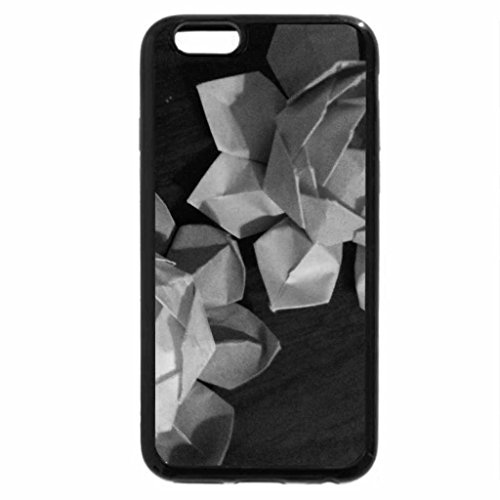 iPhone 6S Plus Case, iPhone 6 Plus Case (Black & White) - Origami Lotus Flower