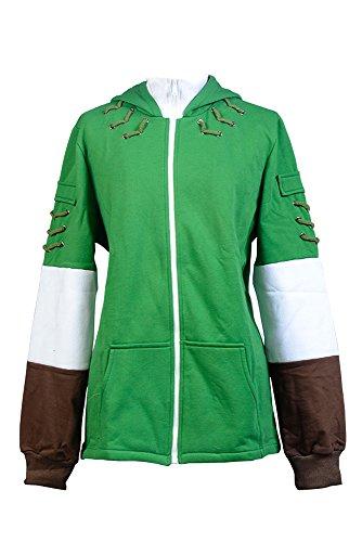Preisvergleich Produktbild The Legend of Zelda Kapuzenjacke Link Kapuzenpullover Hoodie Cosplay Kostüm Grün