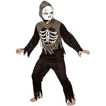 Karneval-Klamotten Kinder Kostüm Skelett Jungen mit Zombie Maske Halloween Horror Komplettkostüm