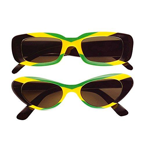 Widmann 6658J Brille, grün/gelb/schwarz, Jamaica