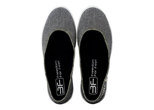 3f freedom for feet Ballerines pour femme Grau Sport 5LB-P/4