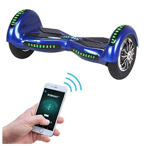 Robway W3 Hoverboard - Das Original - Samsung Marken Akku - Self Balance - 21 Farben - Bluetooth - 2 x 400 Watt Motoren - App - LED (Blau Matt)
