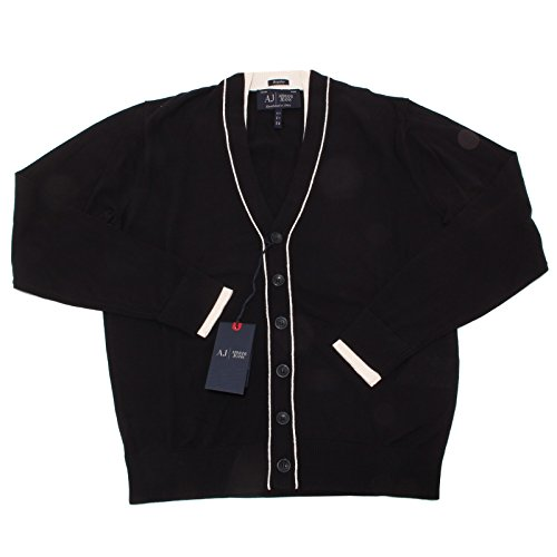 4420O maglione uomo ARMANI JEANS blu cotone cardigan sweater men [S]
