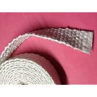 Junta plana de fibra de vidrio trenzada cuerda 0,32 cm espesor 2,54 cm de ancho x 762 cm del rodillo. Madera puerta de la estufa, arco de la cacerola, horno de aceite